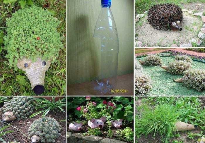 Csináld magad zöld süni a kertbe