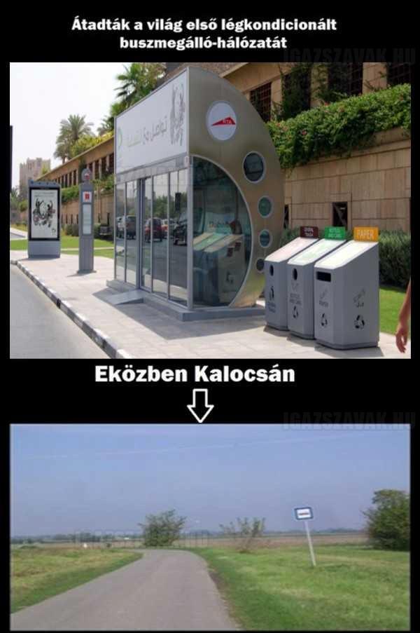 Dubai vs. Kalocsa - Légkondicionált buszmegálló