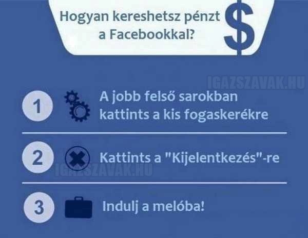 Hogyan kereshetsz pénzt a Facebookkal