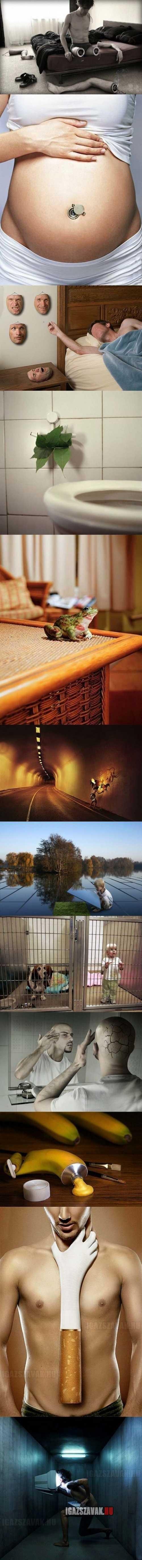Kreatív és elgondolkodtató fotómanipulációk