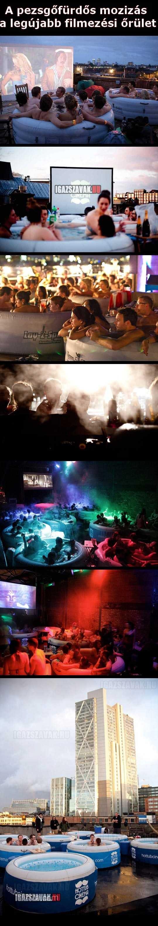 Pezsgőfürdős mozi a legújabb örület