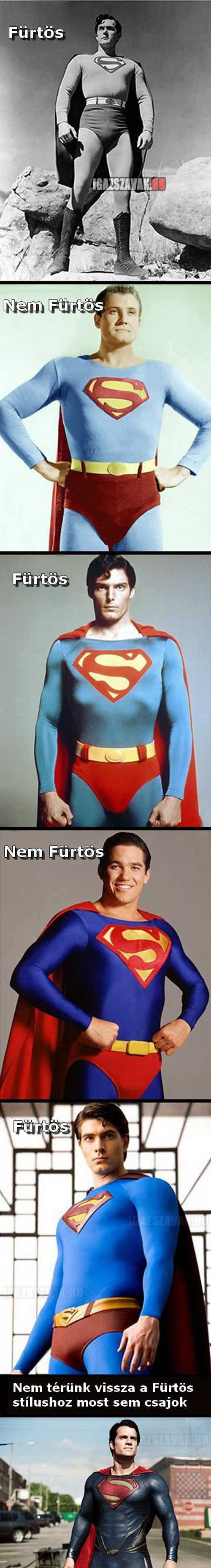 ebben az időben nem a fürtös superman a nyerő