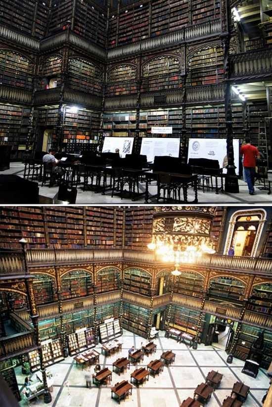egy csodálatos könyvtár Brazíliában