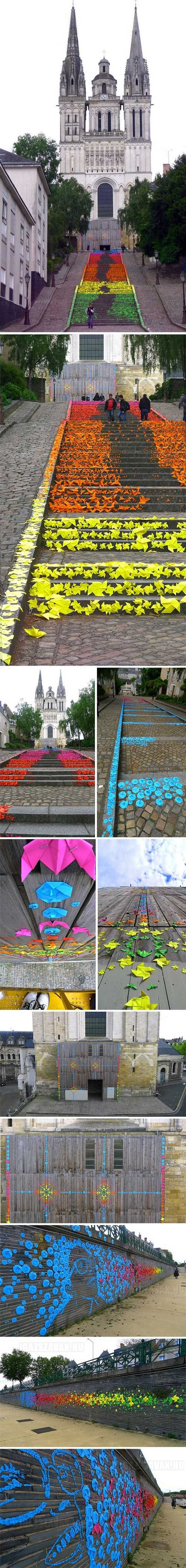 gyönyörű origami művészet