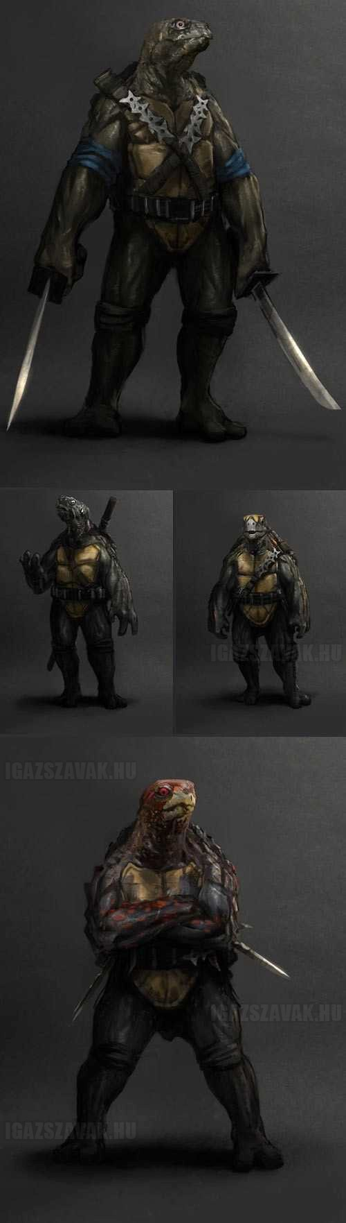 valósághű tini ninja teknőcök