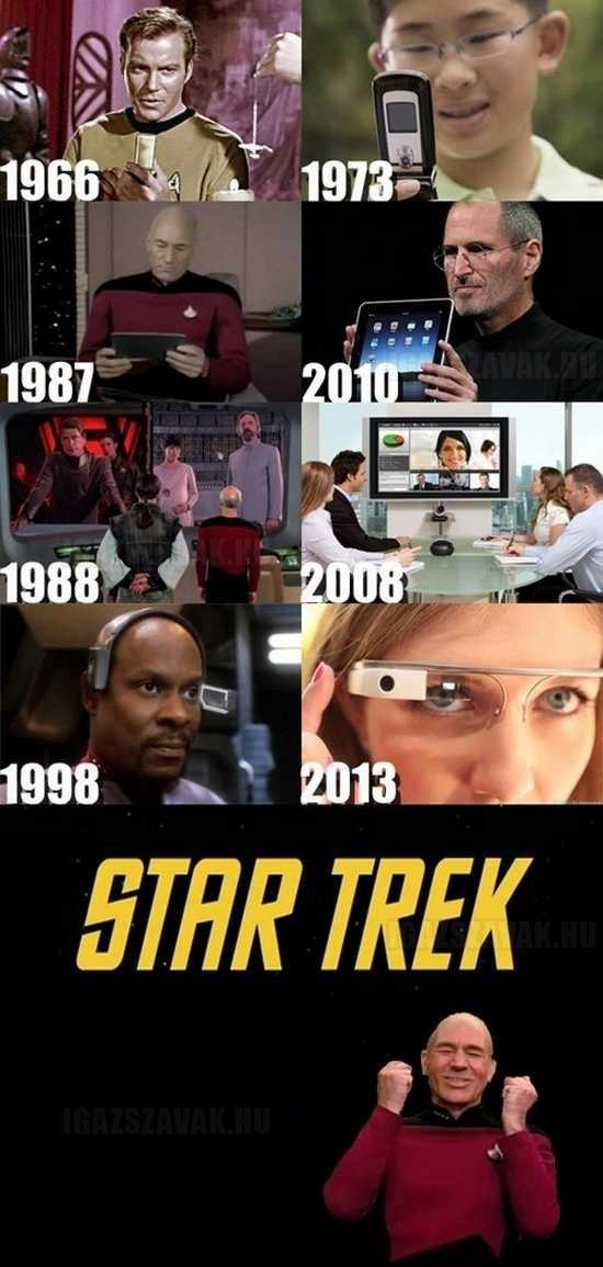 A Star Trek megjósolta a jövőt