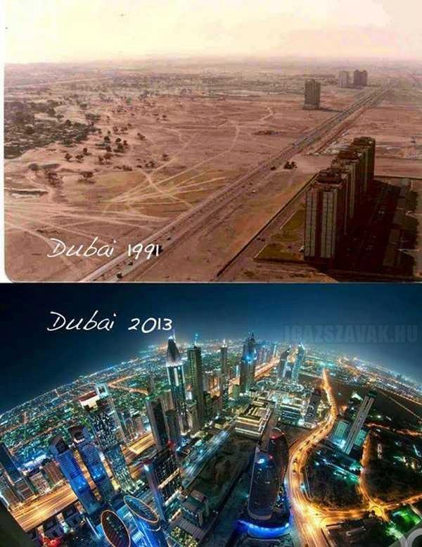 Ennyit változott Dubai 22 év alatt
