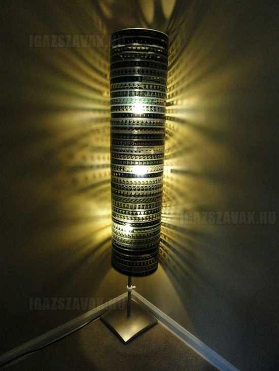 Fantasztikus lámpa filmszallagból, egy ilyen nekem is kell a  szobába