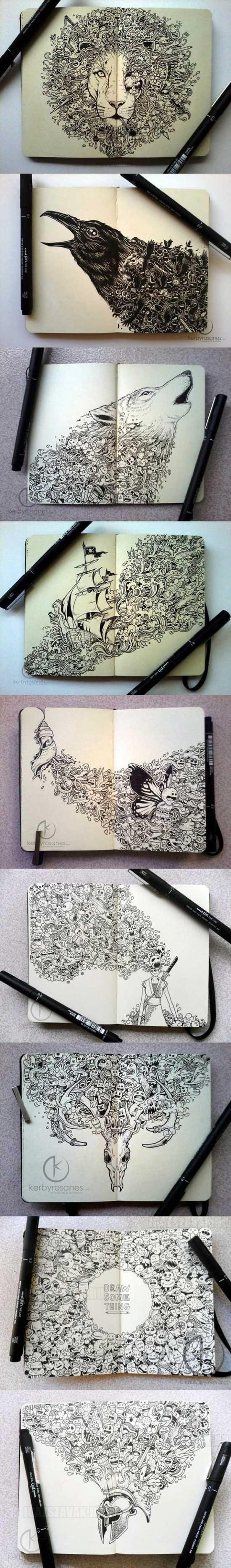 Hihetetlenül szép  Moleskine rajzok