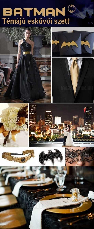 batman eskűvői ruhaszett