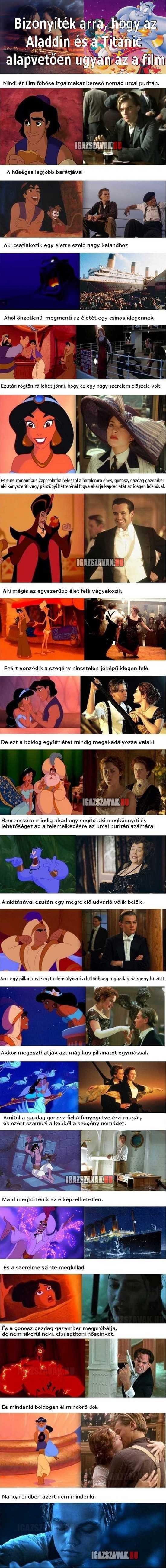 bizonyíték arra, hogy az Aladdin és a Titanic alapvetően ugyan az a film