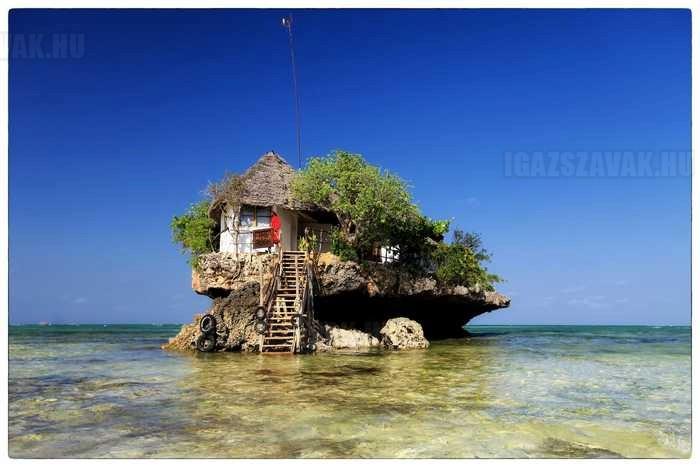 egy szikla étterem zanzibar tanzania