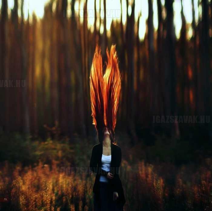 igazi tűzes haj