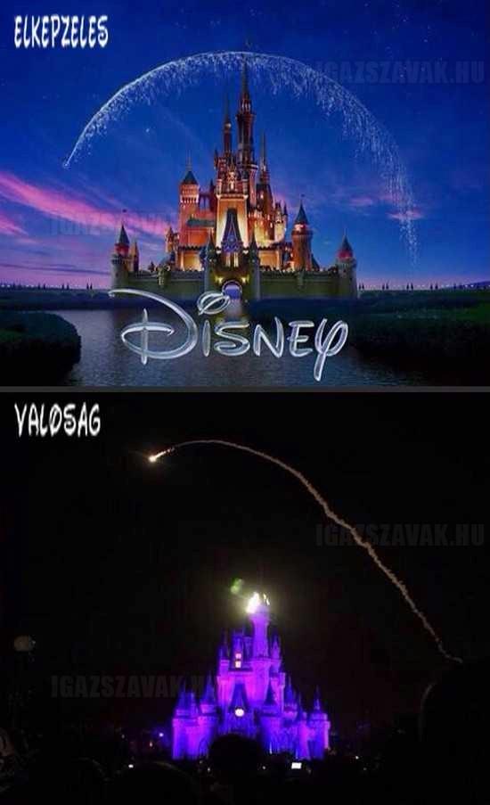 Disney elképzelés vs.valóság
