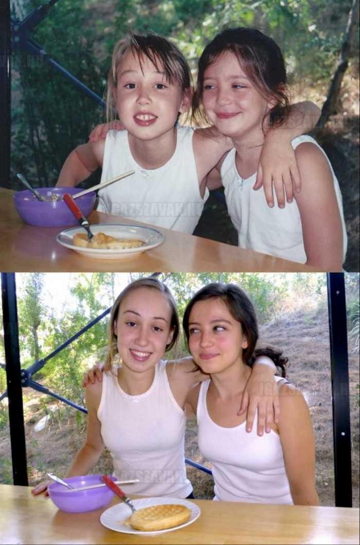 a legjobb barátnők akkor és 10 évvel késöbb is
