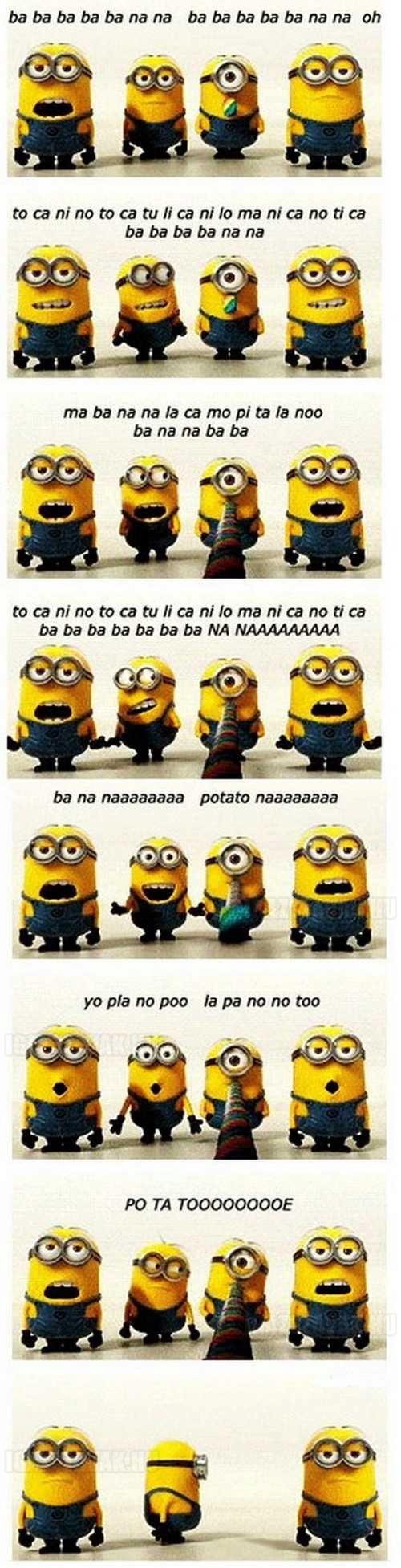 a minion banana ének