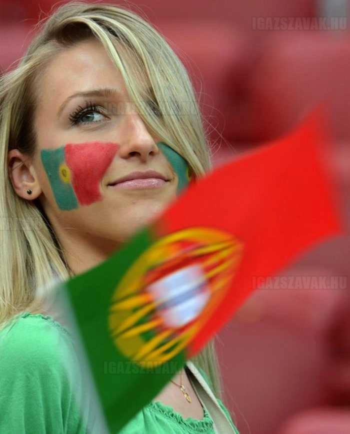 ilyen fotogének a portugál rajongok