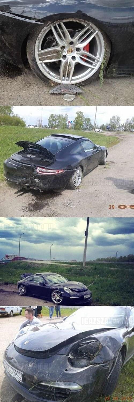 Így kell összetörni teszt vezetésen egy Porsche 911 Carrera S-t