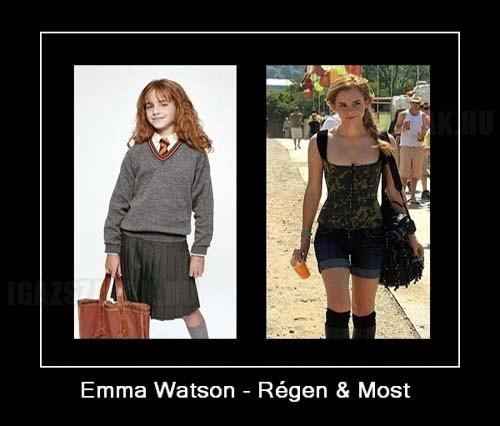 Emma Watson - Régen és most