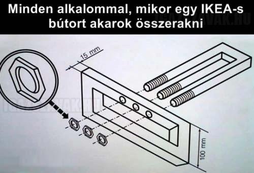 Minden alkalommal, mikor egy IKEA-s bútort akarok összerakni...