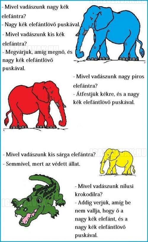 Mivel vadászunk nagy kék elefántra