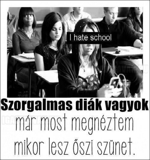 Szorgalmas diák vagyok!
