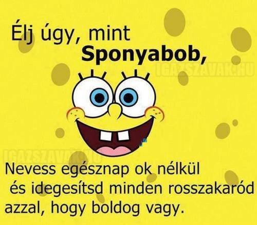 Élj úgy, mint Spongyabob