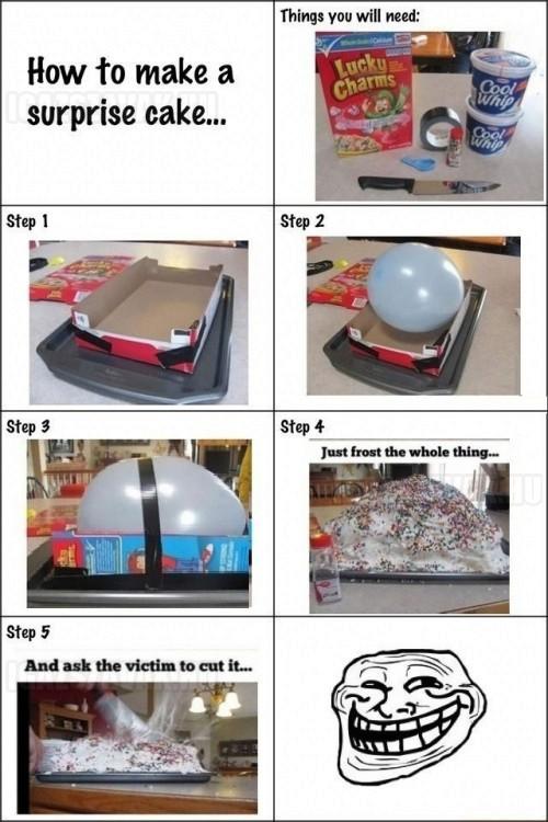 Így készíts troll tortát