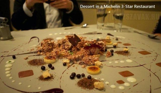 Így néz ki egy desszert egy 3 Michelin-csillagos étteremben