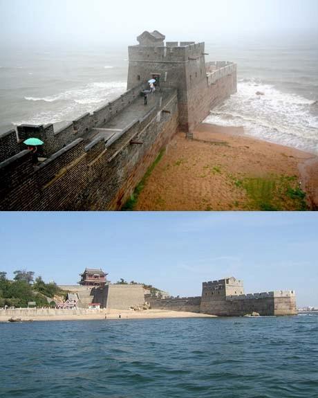 A Kínai nagy fal vége - Sok fotót láttunk már róla, de a végéről annál kevesebbet