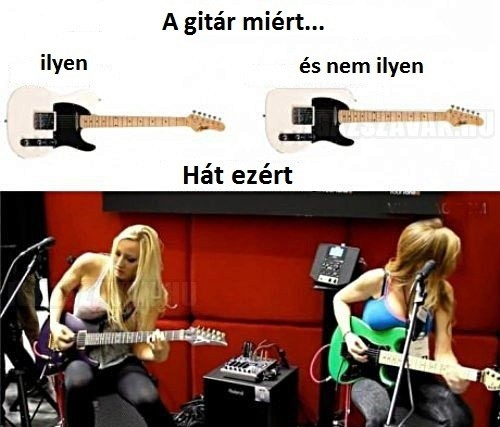 A gitár...