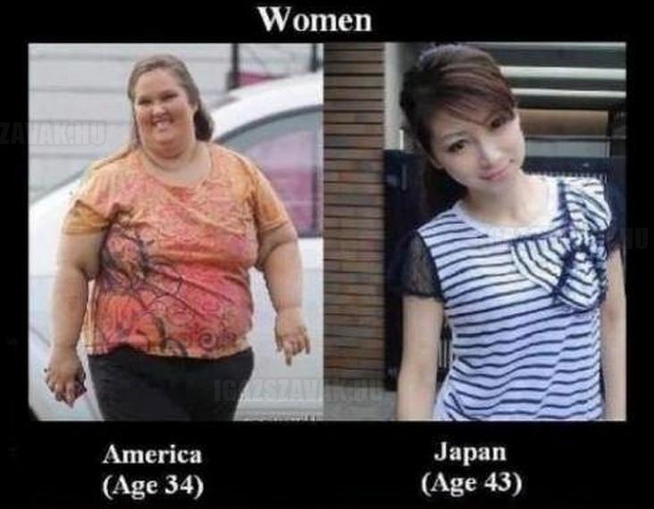 A különbség az amerikai és a japán nők között