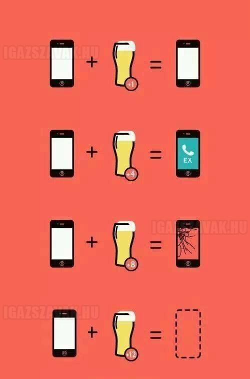 A sör hatása a telefonra