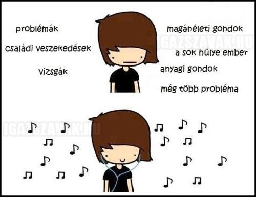 A zene segít