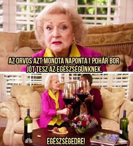 Egy pohár bor jót tesz az egészségnek
