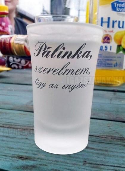 Egy találó pálinkás pohár