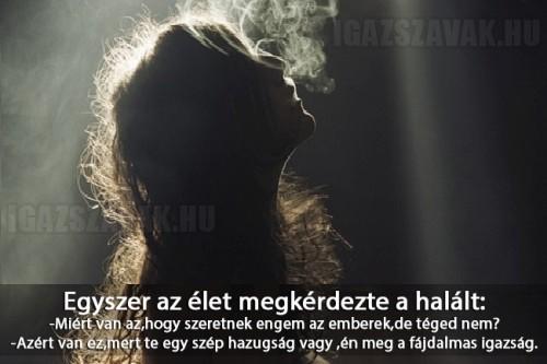 Egyszer az élet megkérdezte a halált