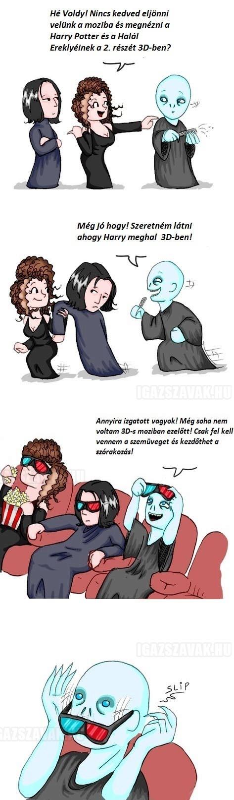 Ezért nem jár Voldemort 3D-s moziba…