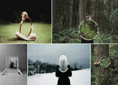 Különleges képek a tükörrel