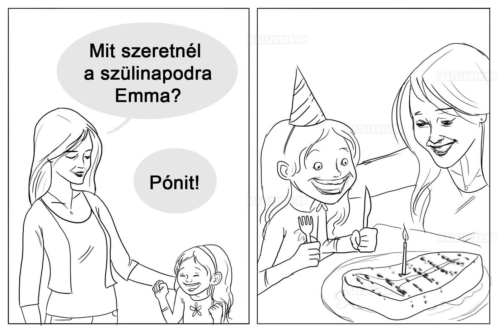 Mit szeretnél a szülinapodra Emma