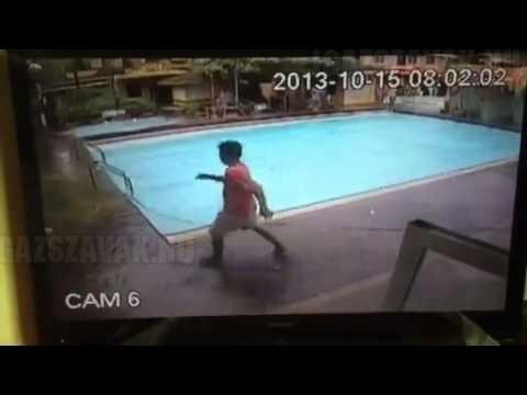 Ez történik az úszómedencével földrengés közben