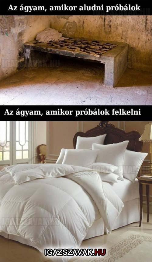 Az ágyam...