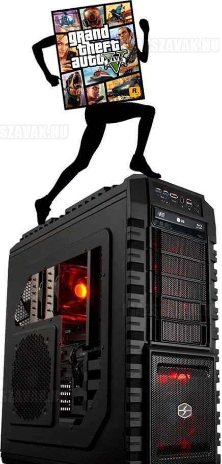 Az első kép arról, hogy hogyan fut a GTA V pc-n