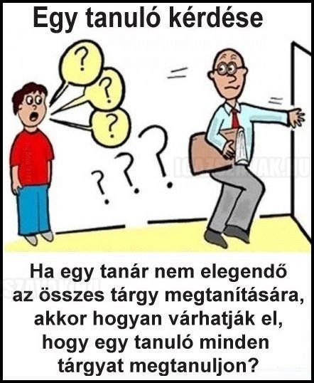 Egy tanuló kérdése