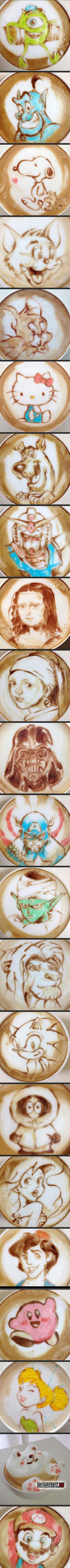 Japánban ilyen a kávéművészet