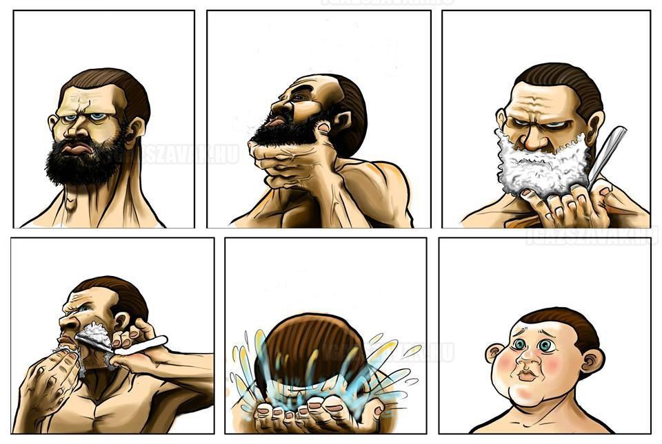 Minden borotválkozás után