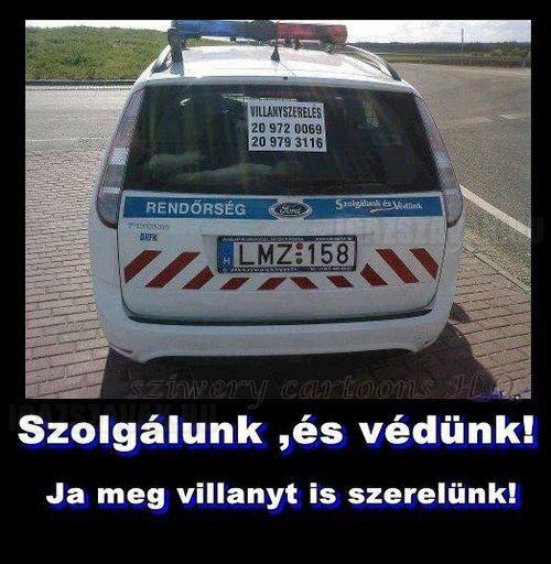 Nap képe - Rendőr reklám