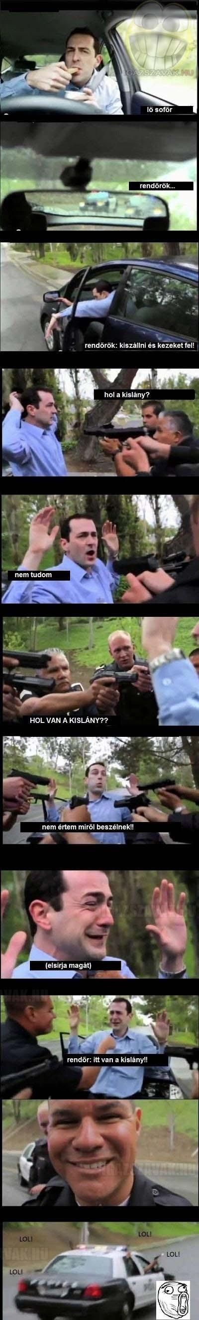 Trollkodó rendőrök