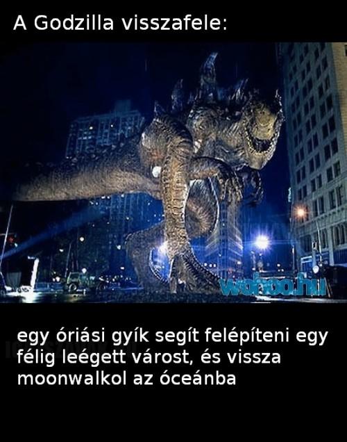 Godzilla visszafele