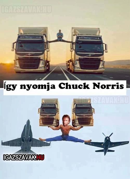 Volvo reklám Chuck Norrissal